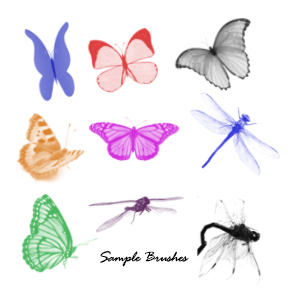 PS Brushes: 40+ Butterflies & Dragonflies