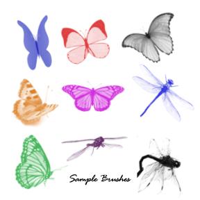 PS Brushes: 40+ Butterflies & Dragonflies