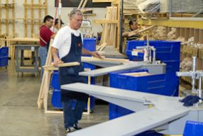 Frame Making at Canvas on Demand PERC Site Visit